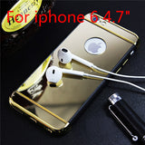 Hot Sales Luxury Mirror Electroplating TPU+Plastic Hybrid phone cases for iphone 6 6s 6plus 6splus with 3 in 1 design covers - Honeybee Line - 3