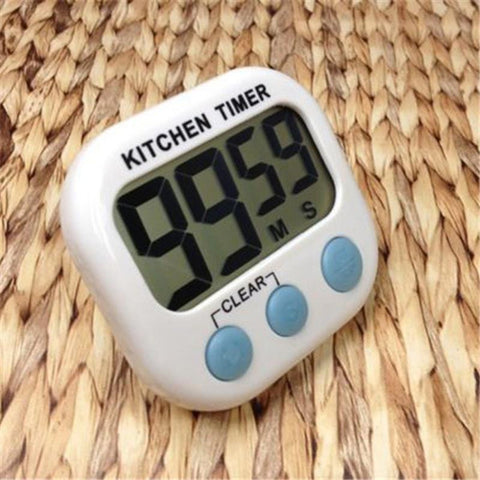New Large LCD Kitchen Cooking Timer Count-Down Up Clock Loud Alarm Magnetic - Honeybee Line - 1