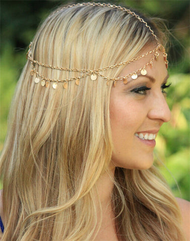 Bindi hair accesories Boho Headband - Honeybee Line - 5