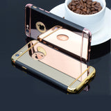 Hot Sales Luxury Mirror Electroplating TPU+Plastic Hybrid phone cases for iphone 6 6s 6plus 6splus with 3 in 1 design covers - Honeybee Line - 1