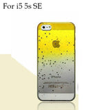 Ultra-thin Creatively 3D rain drop water raindrop hard back cover semi-transparent colorful phone case for iphone 5 SE 6 6S Plus - Honeybee Line - 25