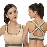 Athletic Vest Gym Fitness Sports Yo-ga Bra Stretch Crop tops - Honeybee Line - 10