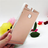 Hot saling Fashion Luxury plating Mirror Back Case For Huawei P9 For Huawei P9 lite Electroplating TPU Clear Soft Cover - Honeybee Line - 2