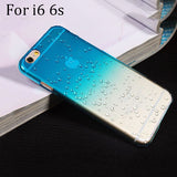 Ultra-thin Creatively 3D rain drop water raindrop hard back cover semi-transparent colorful phone case for iphone 5 SE 6 6S Plus - Honeybee Line - 24