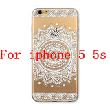 Phone Cases for Apple iPhone 4 4S 5 5S SE 5C 6 6S 6Plus 6s Plus HENNA DREAM CATCHER Ethnic Tribal TPU Silicon Covers Capa Back - Honeybee Line - 9