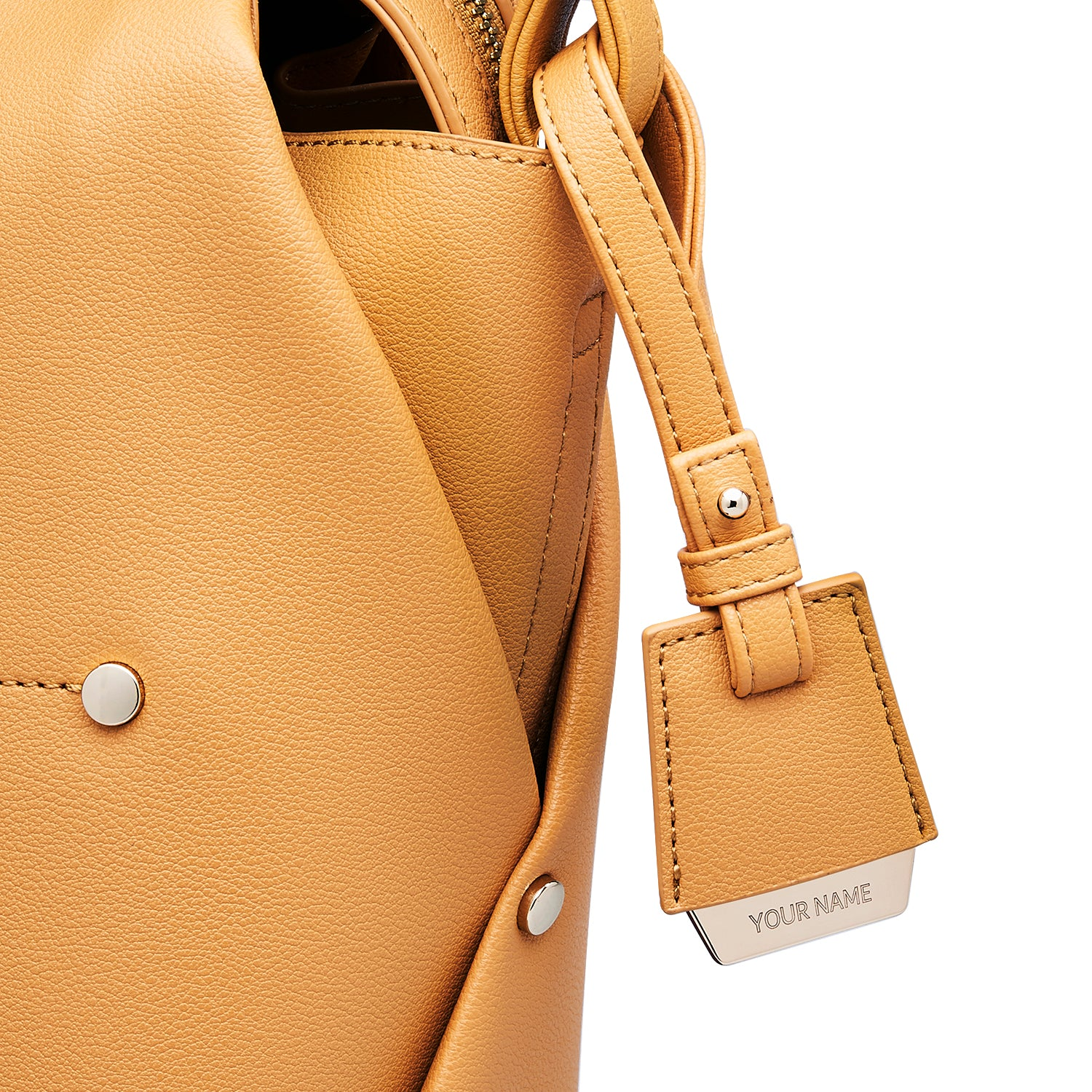COLEY BAG TAG - MUSTARD