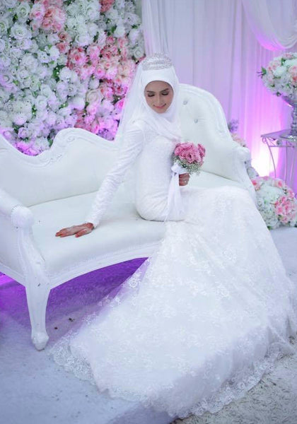 custom made muslim wedding dress malaysia