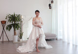 asymmetrical wedding dress