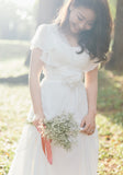 Bride KerYong - Chiffon Wedding Dress with Butterfly Sleeves