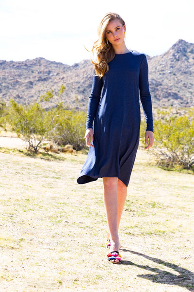 Ribbed Wave Dress