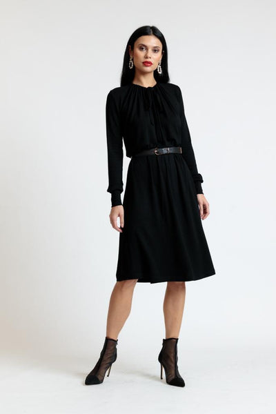Tie Neck Knit Dress