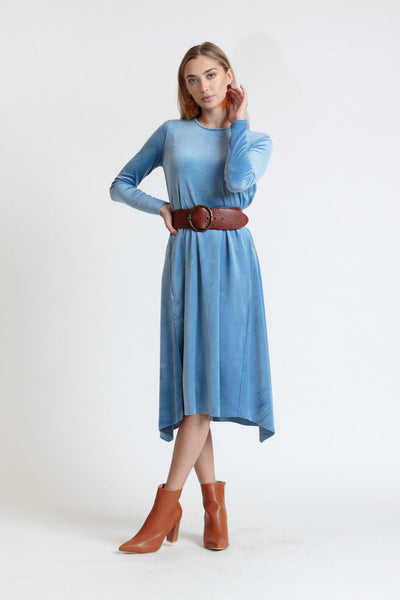 Velour Wave Dress