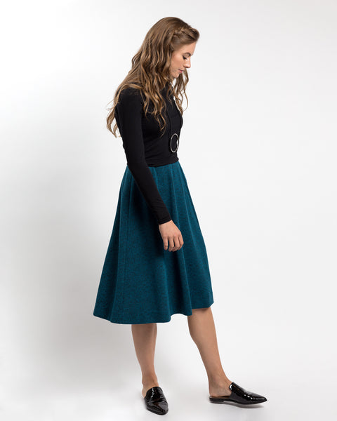 Panel Sweater Skirt