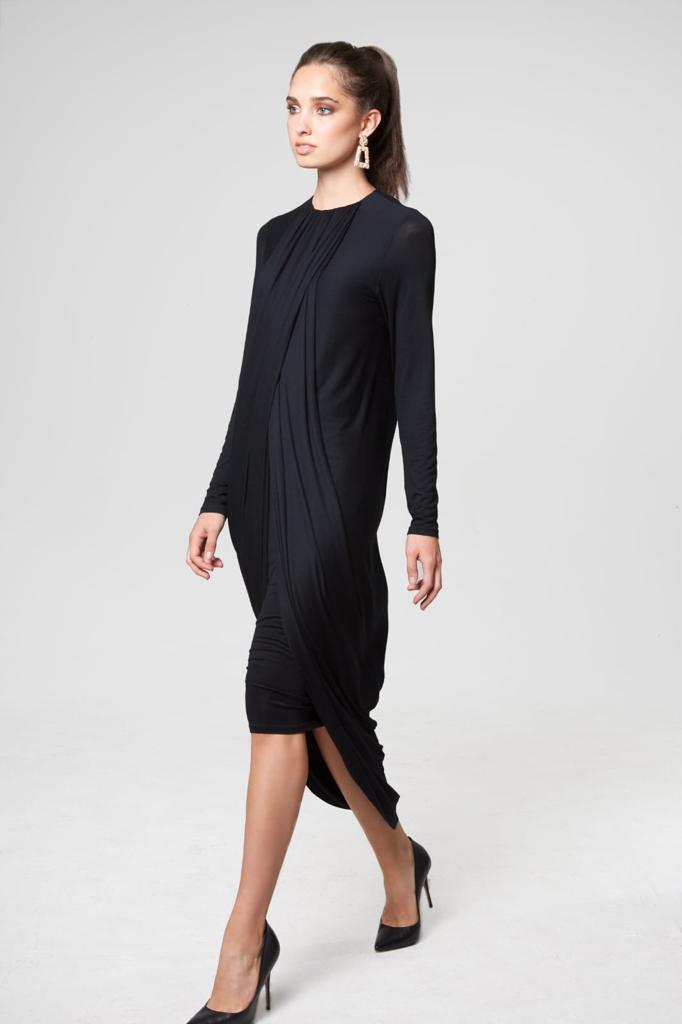 Draped Knit Dress
