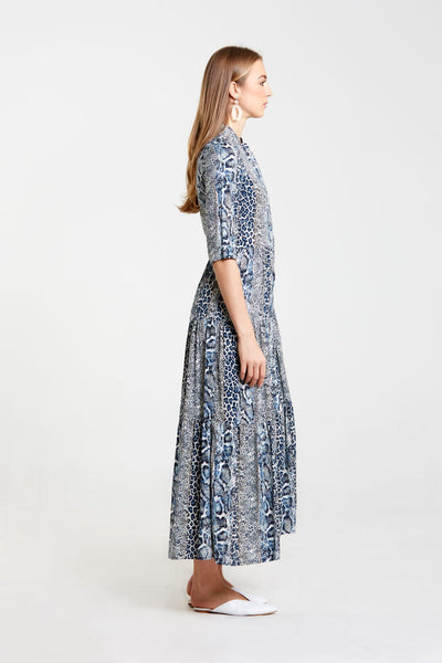 Tiered Maxi Dress-Animal Print