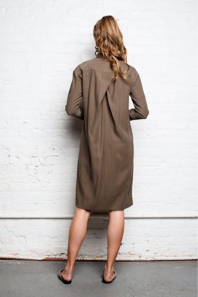 Overlap Zip Dress