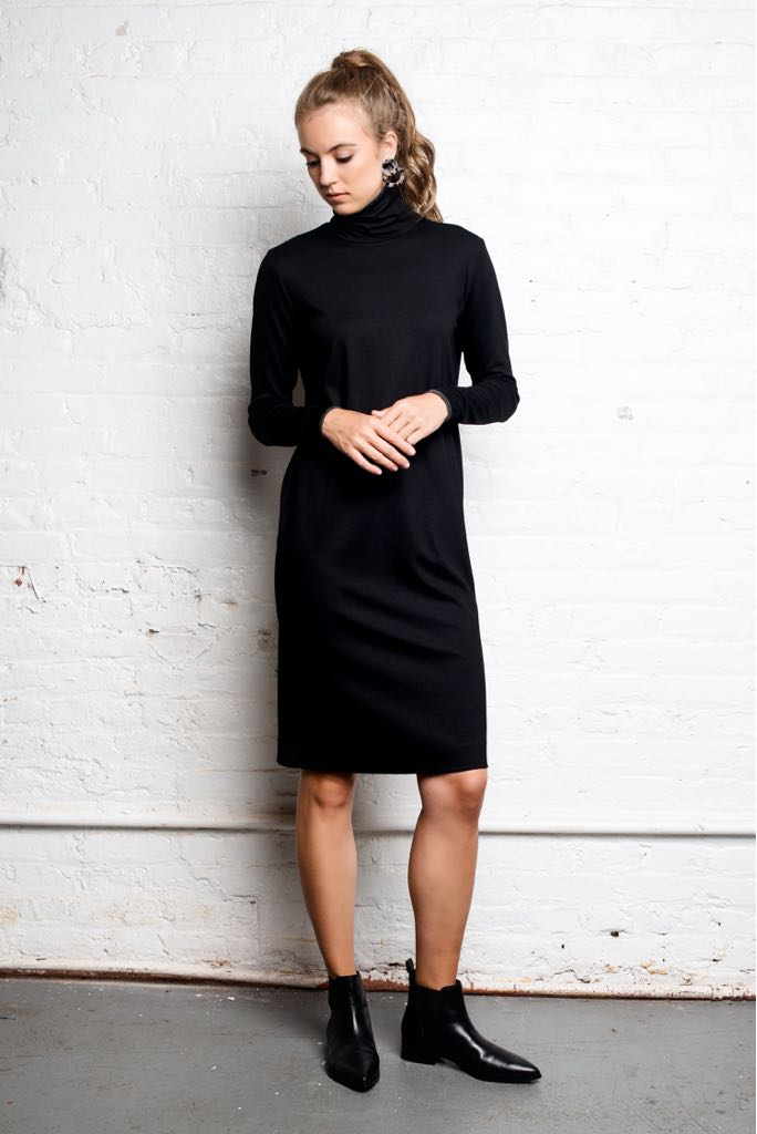 Combo Turtleneck Dress
