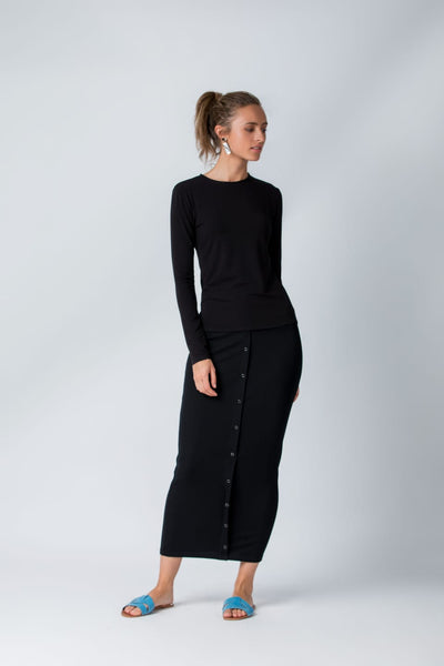 Ribbed Snap Maxi