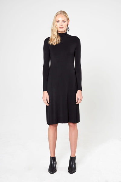 Base Turtleneck Dress-A-line