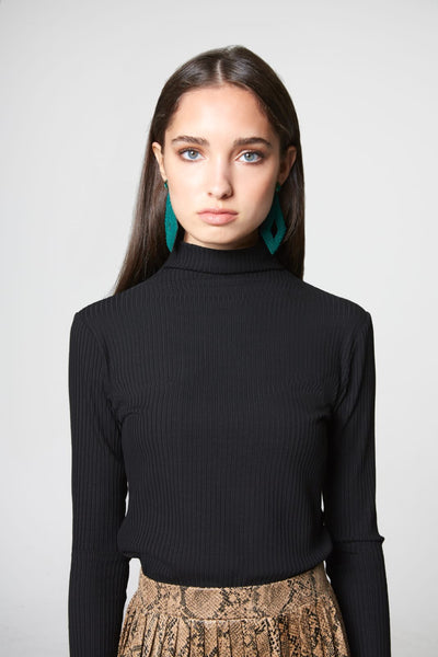 Basic Ribbed Turtleneck-Wide Ribbed