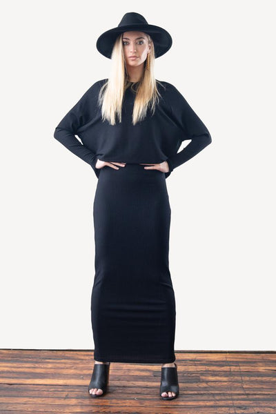 Illusion Maxi Dress-Straight