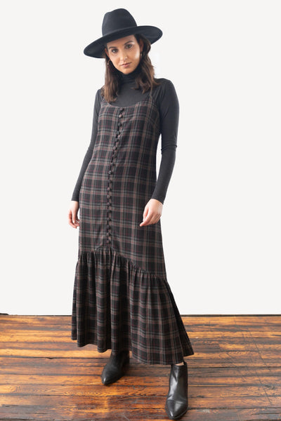 Plaid Maxi Jumper