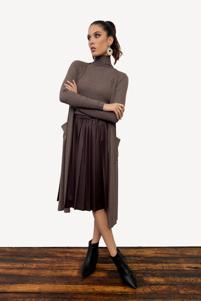 Basic Ribbed Turtleneck-Thin Ribbed