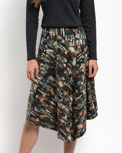 Asymmetrical Knit Skirt
