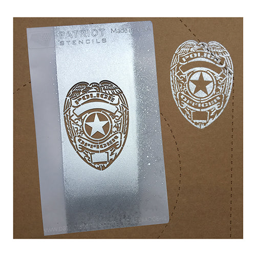 New Product: Police Badge No Shoot Target Stencil