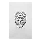 Police Badge No Shoot Target Stencil