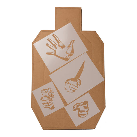 Shoot/No-Shoot Target Stencil 4 Pack