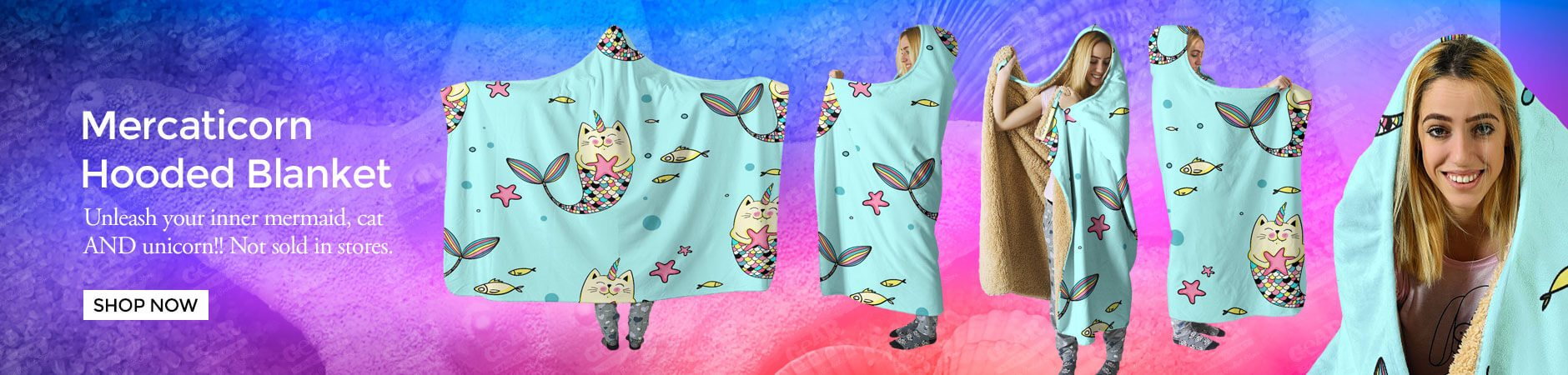 Check out our Mercaticorn Hooded Blanket - Not Sold In Stores - Awesome Product!
