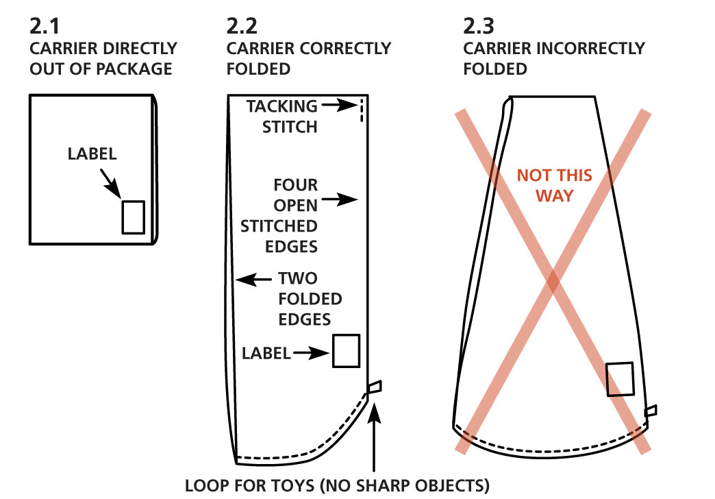 37e7090411a Folding instructions  In order for the carrier to be worn correctly