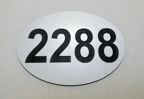 Laser Engraved Equestrian Event ID number for Saddle Blankets