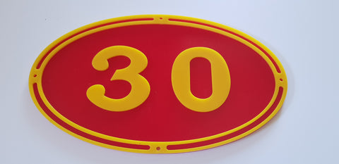 Replica Oval Locomotive Number Plate - Laser Cut