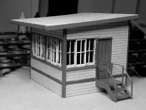 Skillion Roof Signal Cabin (Byford) - Laser Cut - S Scale