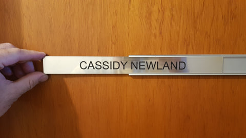 Door Name Plate Insert