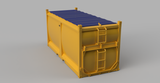 20ft Sulphur Container with tarpaulin - HO Scale - 3D printed