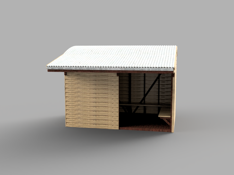 Portable Shelter Shed - 3D printed - S Scale