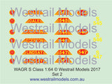 WAGR S Class Locomotive Decals - Water Slide Transfers - S Scale