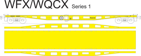 WFX/WQCX Series 1 - WAGR/Westrail - Container Flat Car - Laser Cut Kit - HO Scale