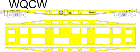 Westrail WQCW - Container Flat Car - Laser Cut Kit - HO Scale