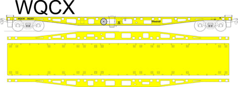 WFX/WQCX Series 2 - WAGR/Westrail - Container Flat Car - Laser Cut Kit - HO Scale