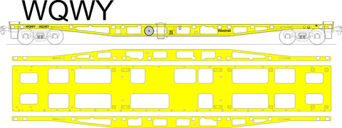 Westrail WQWY - Container Flat Car - Laser Cut Kit - HO Scale