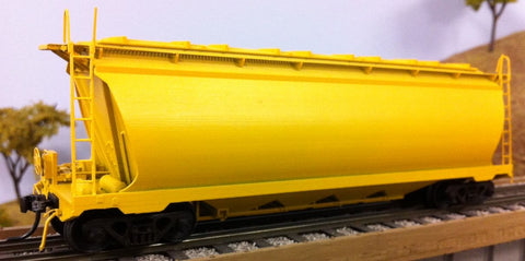 WW Wheat Hopper Wagon - 3D Printed - HO Scale