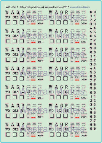 WO Iron Ore Wagon Decals - HO Scale