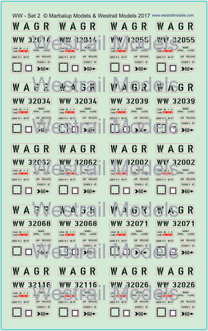 WW Wheat Hopper Wagon Decals - HO Scale