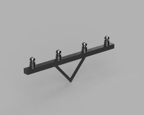 Telegraph Pole Cross Arm - 3D printed - S Scale