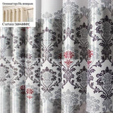 1 pc New Curtains for Windows Drapes European Modern Elegant Noble Printing Shade Curtain For Living Room Bedroom