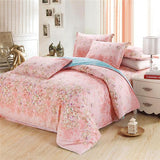 100% Cotton Bedding Sets USA twin full Queen king Size white Flowers Printed Bedsheet Pillowcase Duvet Cover Bed Quilt Bedlinen-Beddings-StyloMylo World